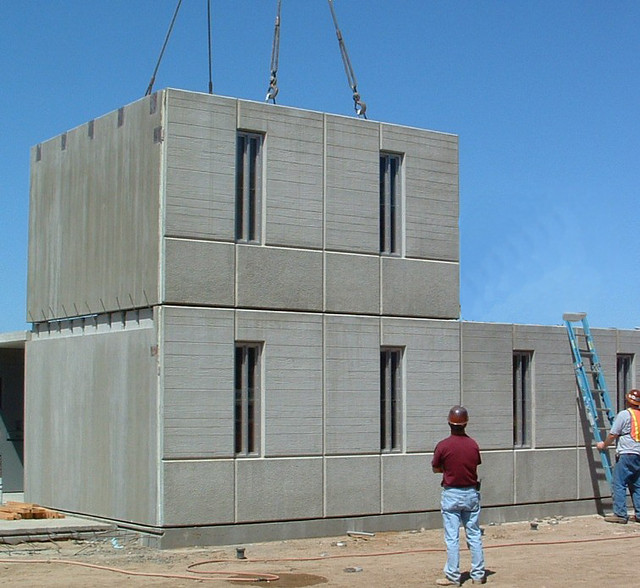 Construction of precast modular housing units for Precast concrete homes florida