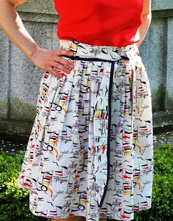 Make It Work: Nautical Skirt Refashion