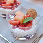 Ricotta, Amaretti and Fruit Dessert