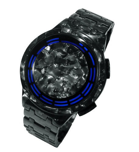 Kisai RPM Acetate Graphite LED Watch Design