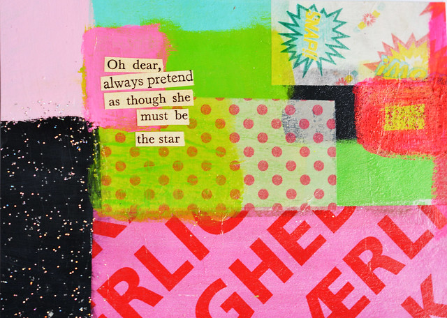 DIY Postcard: Oh dear, always pretend as though she must be the star