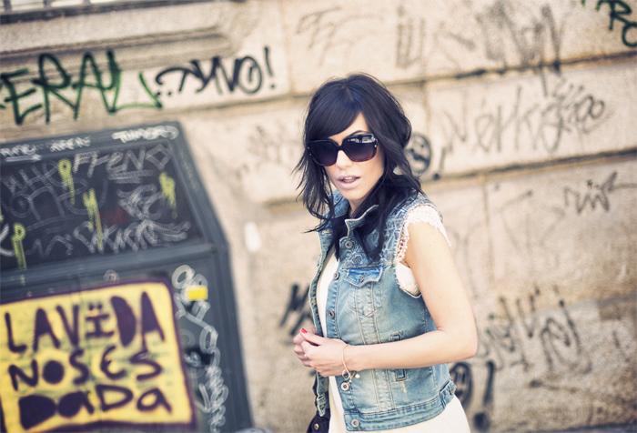 street style barbara crespo crochet layered dress the corner shop fashion blogger outfit blog de moda