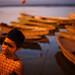 Morning scene - Varanasi, India by Maciej Dakowicz