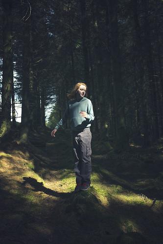 in a break in the forest...
