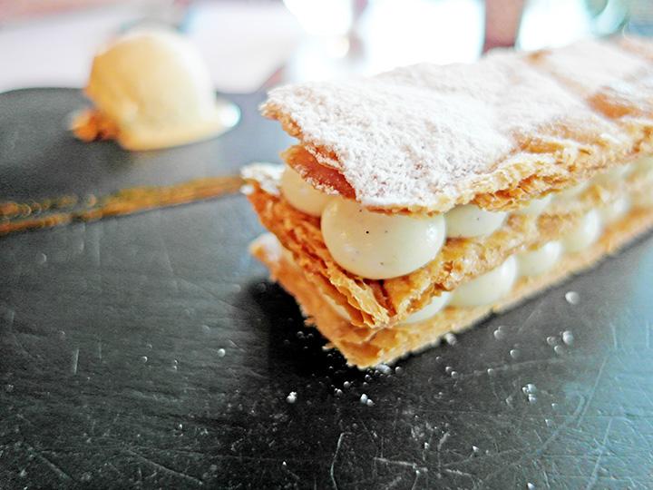 tahiti vanilla mille-feuille, caramel ice cream