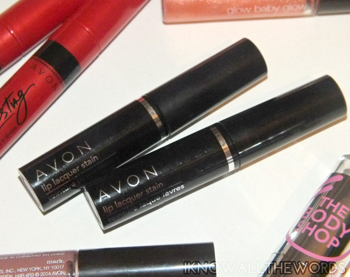 avon lip lacquer stain- nectar and juicy cherry