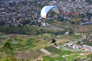 Paragliding At Mount Banyak, East Java, Indonesia