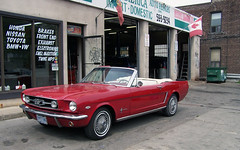automobile, automotive exterior, vehicle, automotive design, first generation ford mustang, ford, antique car, sedan, classic car, land vehicle, luxury vehicle, muscle car, convertible, motor vehicle,