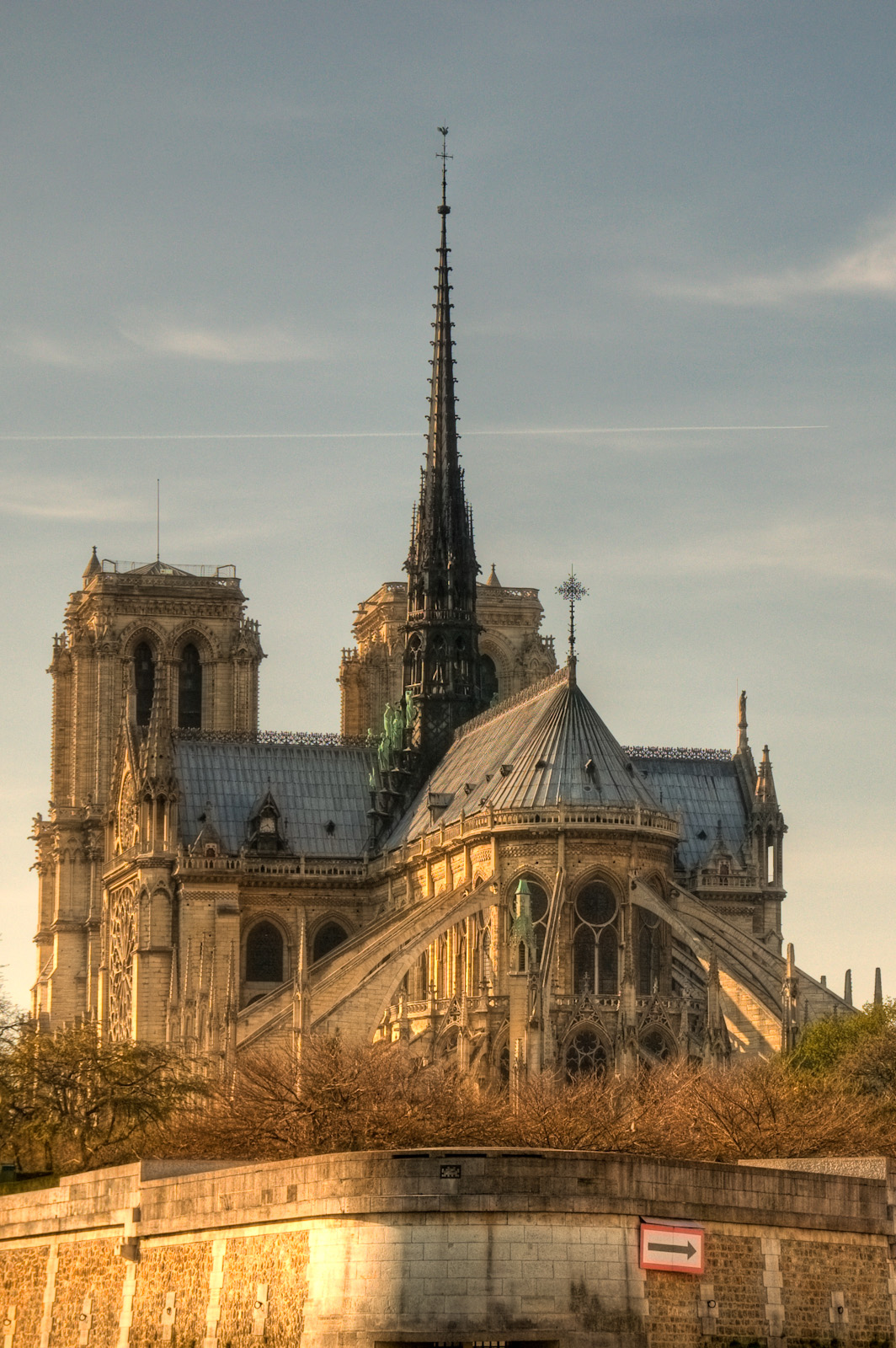 Glowing Rays on Notre Dame