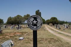 Photo of Voca Cemetery, Voca, TX black plaque