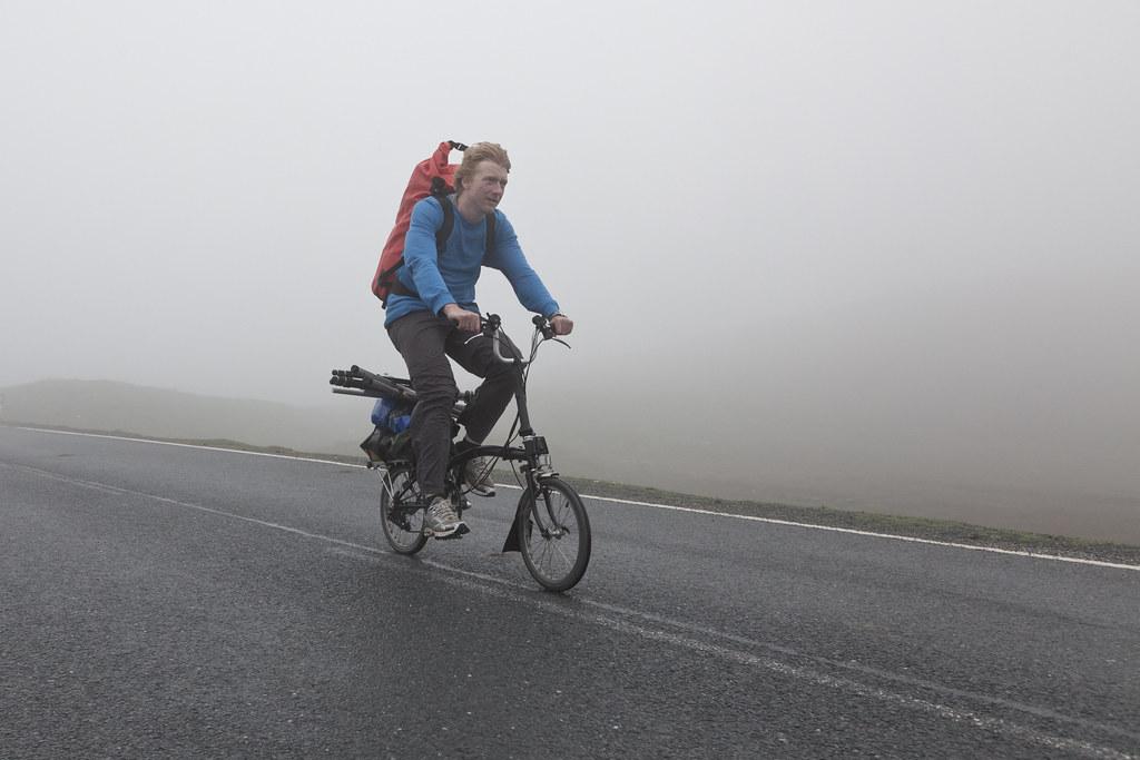 Misty riding