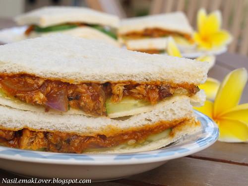 Nasi lemak lover sardine sandwiches for Sardine lunch ideas