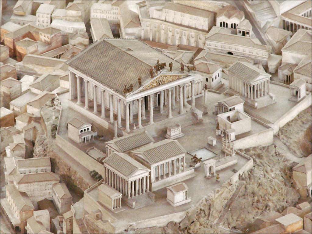 Maquette de Rome (musée de la civilisation romaine, Rome)