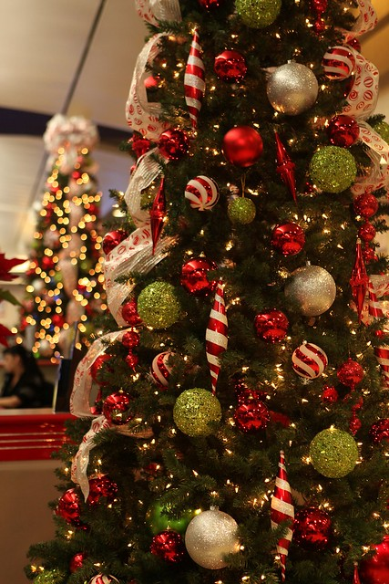 Red amp white striped christmas tree flickr photo sharing