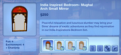 India Inspired Bedroom- Mughal Arch Small Mirror