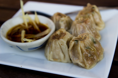 Steamed Dumplings at Smiling Banana Leaf