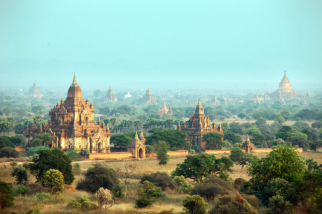 beautiful Bagan temples, Burma - Myanmar