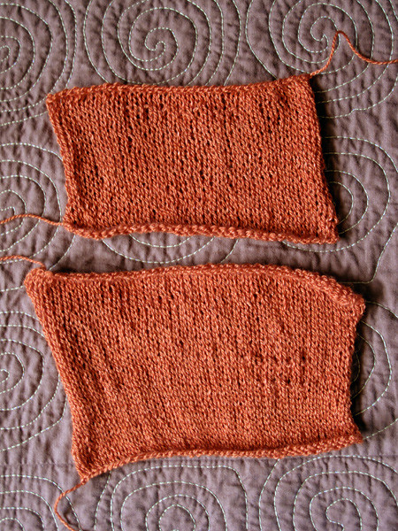 Gauge Swatches for Laar Sweater