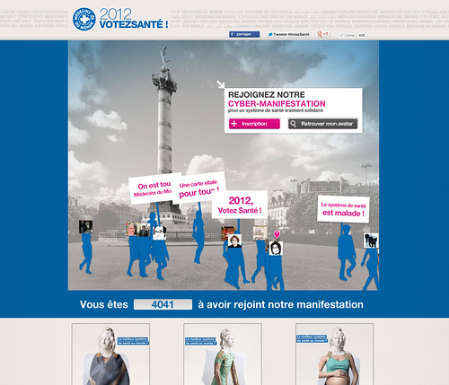 Médecins du Monde - CyberManifestation