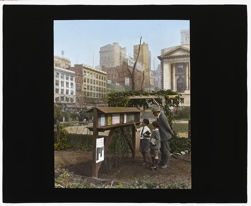 Demonstration garden, Bryant Park, 42nd Street and Fifth Avenue, New York, New York. (LOC)