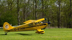 monoplane, aviation, biplane, airplane, propeller driven aircraft, vehicle, piper pa-18, piper j-3 cub, ultralight aviation,
