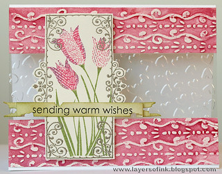 Tulips and embossing