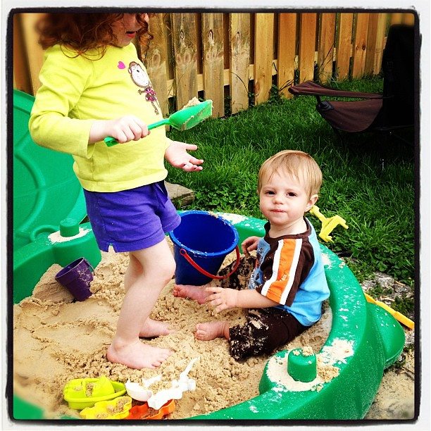 So while I was gone this happened.  #sandbox #somuchsand