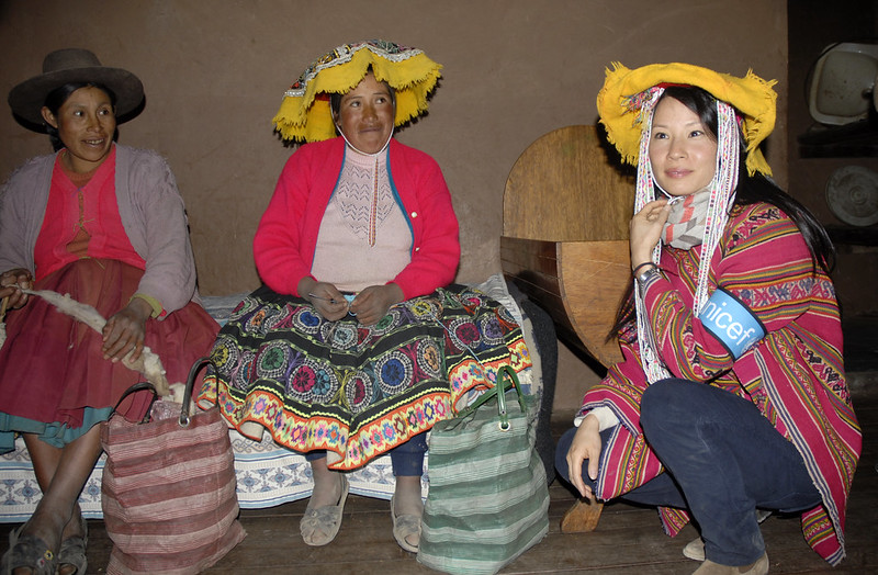 Lucy Liu in Peru