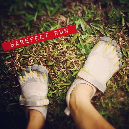 Started my barefoot running!! #vibram
