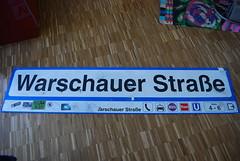 Original S-Bahn Schild Warschauer Strasse vom alten Bahnhof