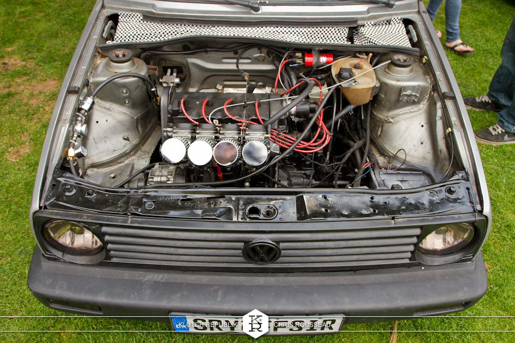 mk2 vw golf engine bay picture at staggered 2012