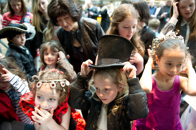 Children dressing up at a Royal Opera House Welcome Performance © ROH 2012
