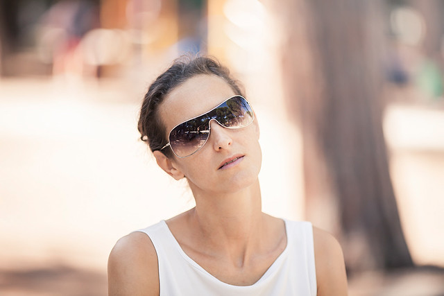 Family, woman with sunglasses
