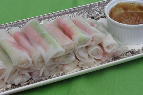 黄瓜木瓜米纸卷