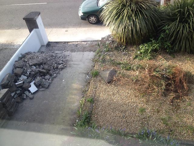 Start of driveway work