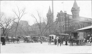 Photograph of Center Market taken from the Corner of C and 9th Streets Northwest, 04/02/1914