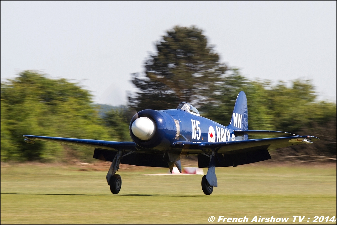 F-AZXJ Hawker Sea Fury Meeting Aerien 2014
