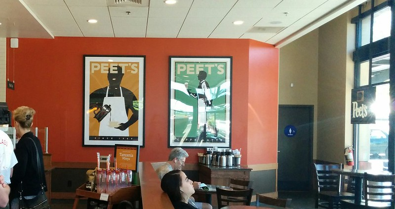 the peet's coffee de novato, has the biggest michael schwab posters I've ever seen :) ♥