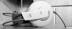 electronic device, white, monochrome photography, gadget, monochrome, black-and-white, headphones,