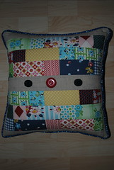 Linen and DS fabric cushion cover