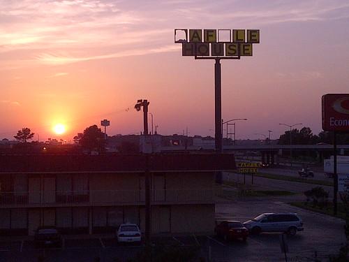 Sunset over West Memphis, AR