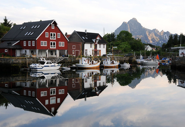 Kabelvåg village, Lofoten / Norway