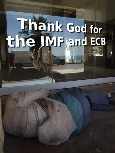 Thank God for the IMF and ECB