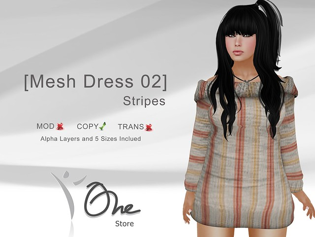 [Mesh Dress 02] Stripes