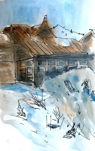 April 2012: Sketching in the snow