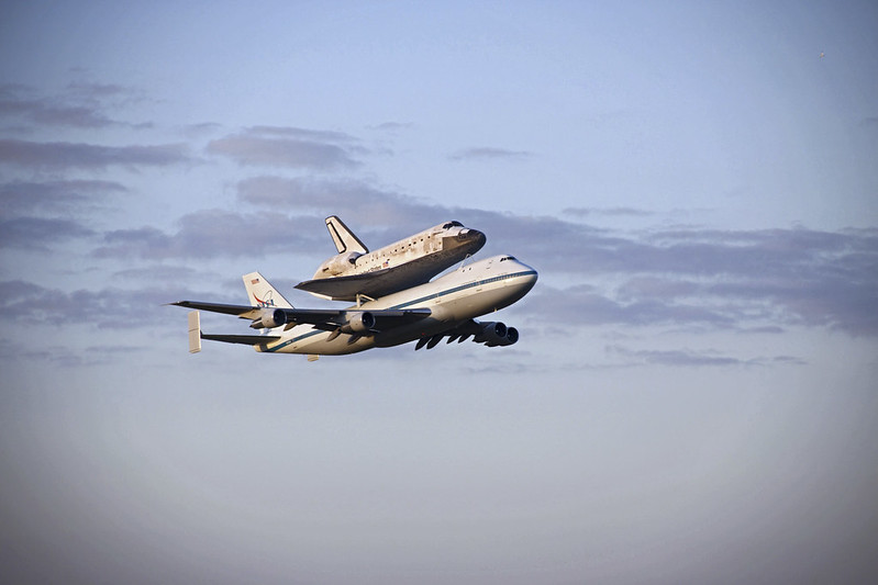 SCA Takes Off From KSC Carrying Discovery (KSC-2012-2346)