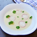 Spring Potato Soup with Kohlrabi