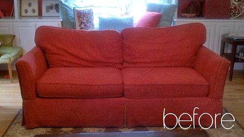 Before And After Slipcover Pink Amp Polka Dot