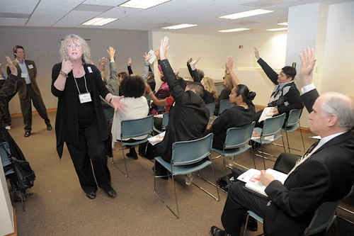 Debbie Devine of 24th Street Theatre conducts a dynamic advocacy training session