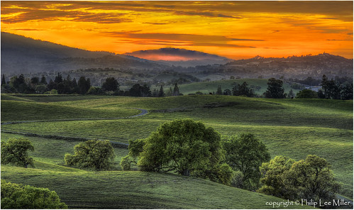 california sunset nature grass fog landscape hdr rollinghills sanfranciscopeninsula windingroads californiaoaktrees magicunicornverybest topazdetail